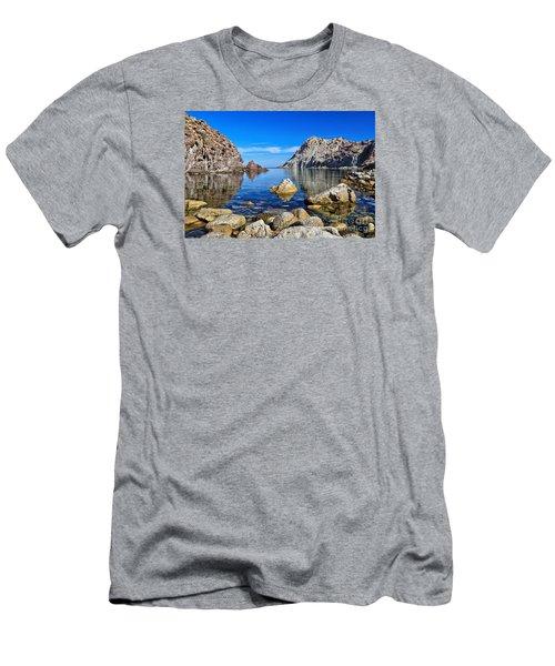 Sardinia - Calafico Bay  Men's T-Shirt (Slim Fit) by Antonio Scarpi