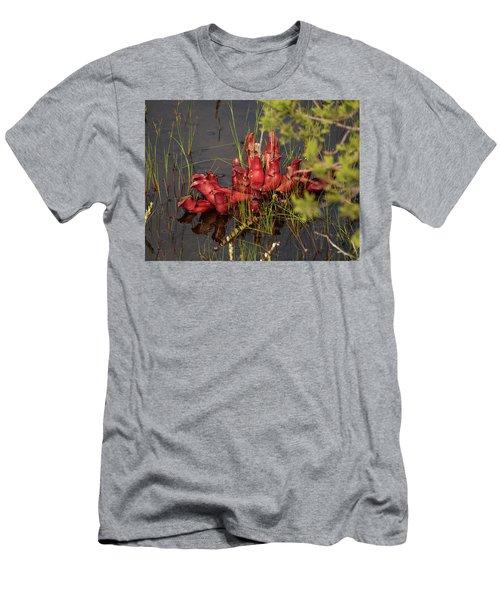 Men's T-Shirt (Athletic Fit) featuring the photograph Sarracenia Bug Bat Plant by Louis Dallara
