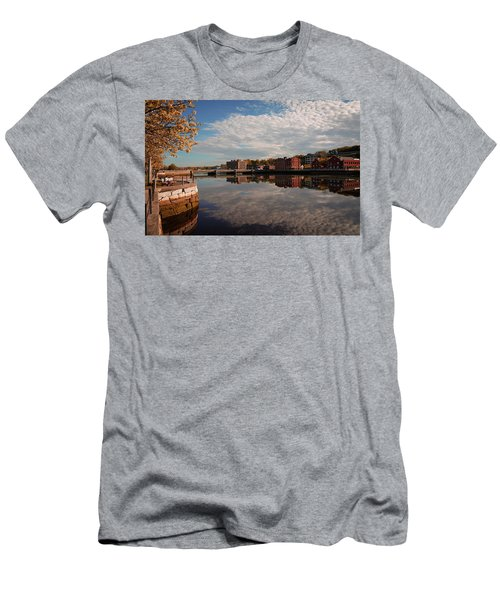 Men's T-Shirt (Athletic Fit) featuring the photograph Saugatuck River - Westport by Michael Hope