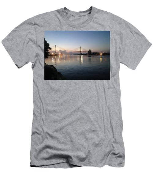 Savannah Bridge Evening  Men's T-Shirt (Athletic Fit)