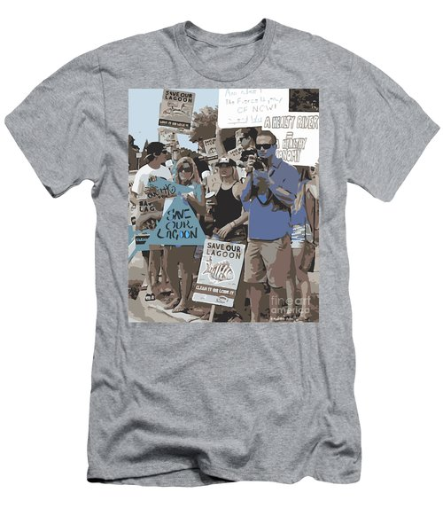 Save Our Lagoon Men's T-Shirt (Athletic Fit)