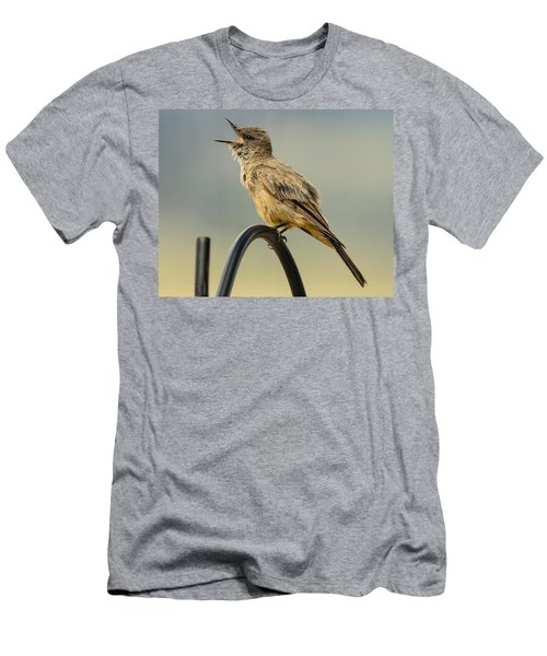 Say's Phoebe Singing Men's T-Shirt (Athletic Fit)