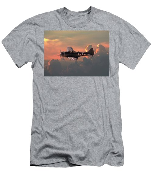 Men's T-Shirt (Slim Fit) featuring the digital art  Sbd - Dauntless by Pat Speirs