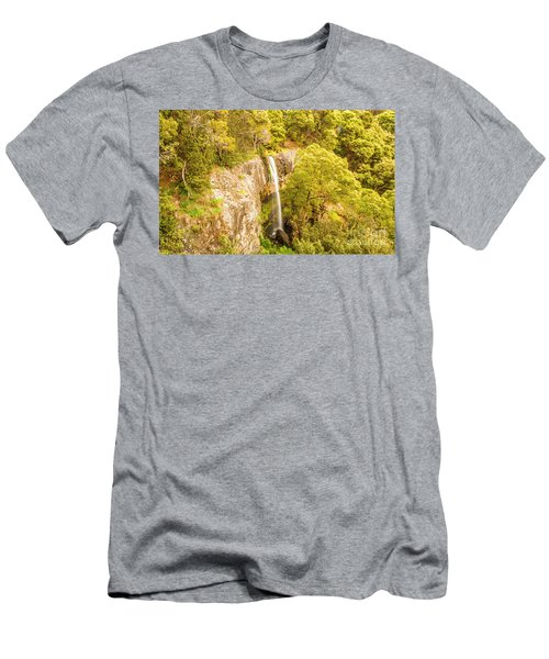 Scenic Forest Falls Men's T-Shirt (Athletic Fit)