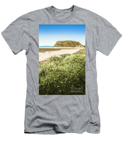 Scenic Stony Seashore Men's T-Shirt (Athletic Fit)