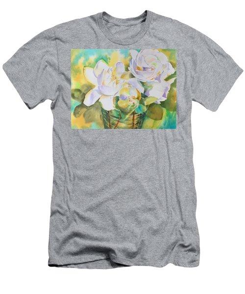 Scent Of Gardenias  Men's T-Shirt (Slim Fit) by Tara Moorman