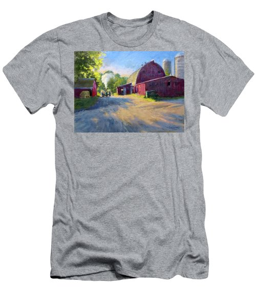 Schober's Barn At Sunset Men's T-Shirt (Athletic Fit)