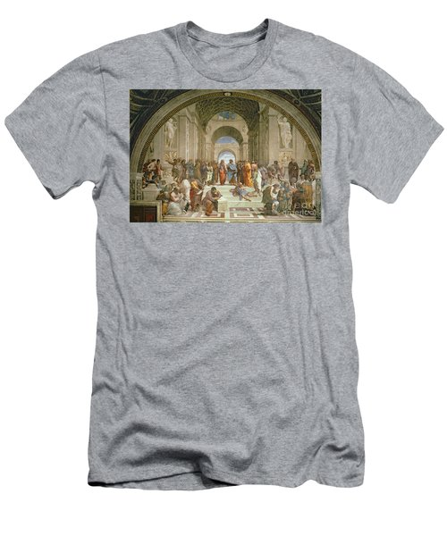 School Of Athens From The Stanza Della Segnatura Men's T-Shirt (Athletic Fit)