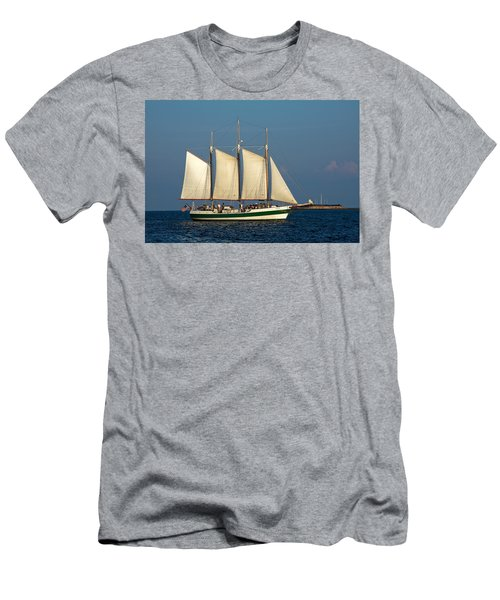 Schooner By Fort Sumter Men's T-Shirt (Athletic Fit)