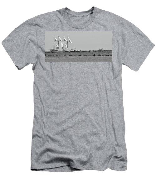 Schooner On Lake Michigan No. 1-1 Men's T-Shirt (Athletic Fit)