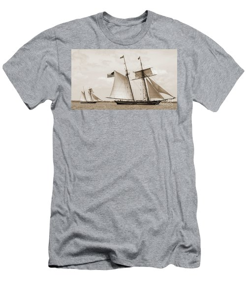 Schooners Pride Of Baltimore And Lynx Men's T-Shirt (Athletic Fit)