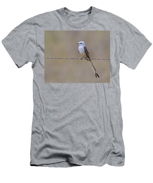 Scissor-tailed Flycatcher Men's T-Shirt (Slim Fit) by Tony Beck
