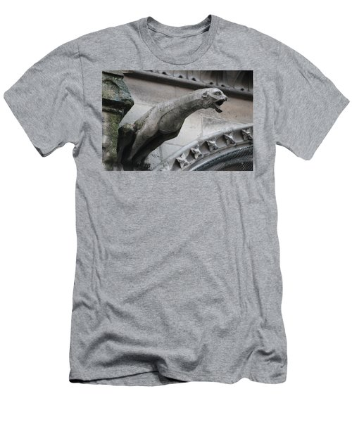 Men's T-Shirt (Slim Fit) featuring the photograph Screaming Griffon Notre Dame Paris by Christopher Kirby