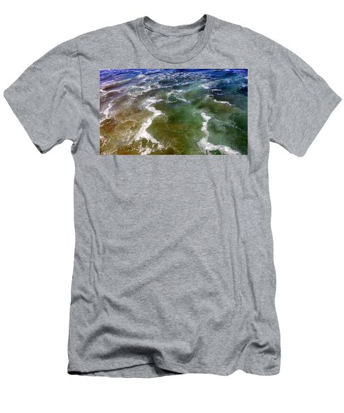 Artistic Ocean Photo Men's T-Shirt (Athletic Fit)