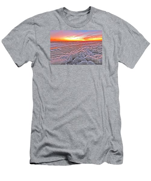 Sea Foam Sunset Men's T-Shirt (Slim Fit) by Shelia Kempf