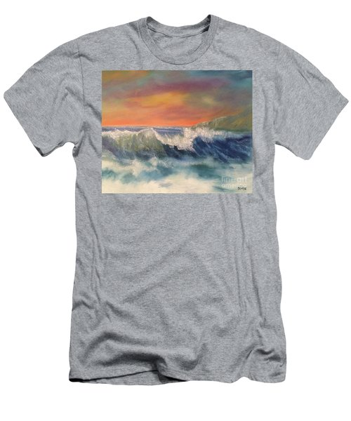 Men's T-Shirt (Athletic Fit) featuring the painting Sea Mist by Denise Tomasura