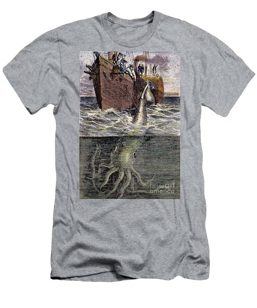 Sea Monster Men's T-Shirt (Athletic Fit)