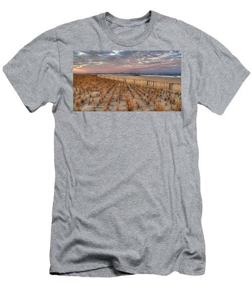 Sea Oats Men's T-Shirt (Slim Fit) by John Loreaux