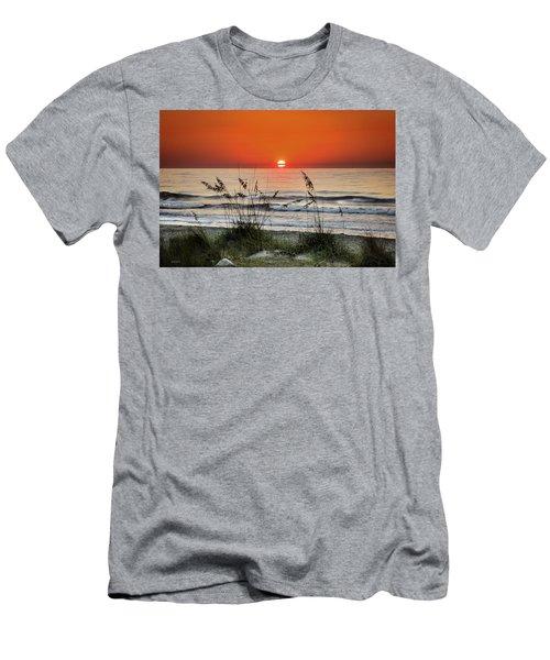 Sea Oats Sunrise Men's T-Shirt (Slim Fit) by Phil Mancuso