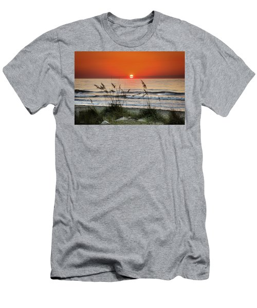 Sea Oats Sunrise Men's T-Shirt (Athletic Fit)