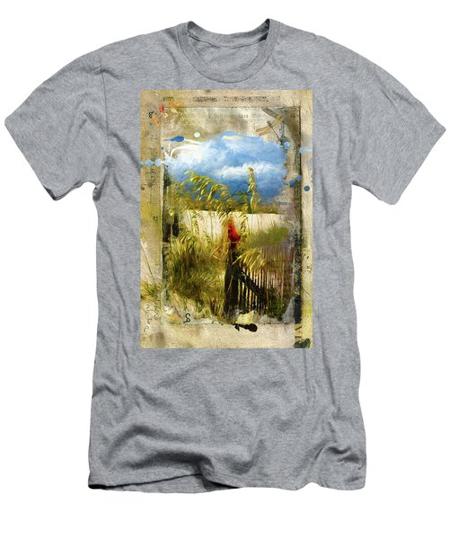 Sea Oats With Cardinal Men's T-Shirt (Athletic Fit)