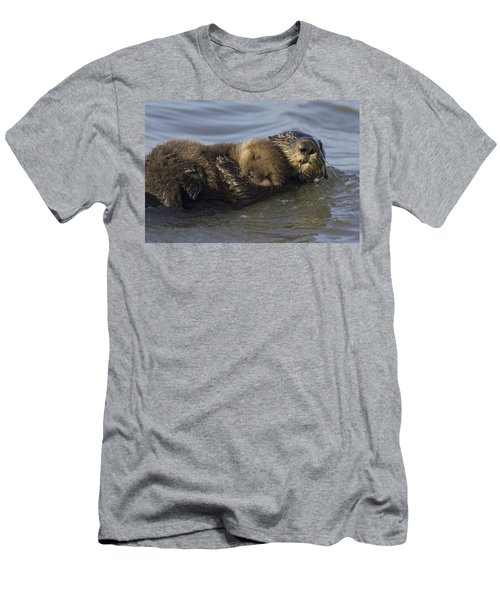 Sea Otter Mother With Pup Monterey Bay Men's T-Shirt (Slim Fit) by Suzi Eszterhas
