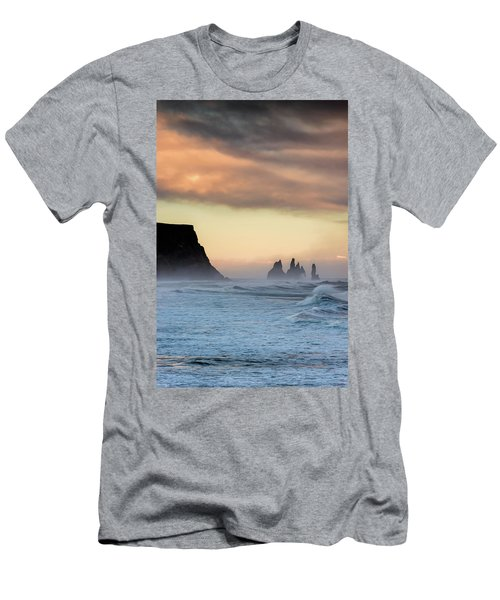 Men's T-Shirt (Slim Fit) featuring the photograph Sea Stacks by Allen Biedrzycki