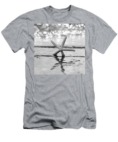 Sea Star Bw Men's T-Shirt (Slim Fit) by Laura Fasulo