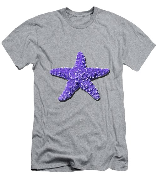 Men's T-Shirt (Slim Fit) featuring the photograph Sea Star Purple .png by Al Powell Photography USA