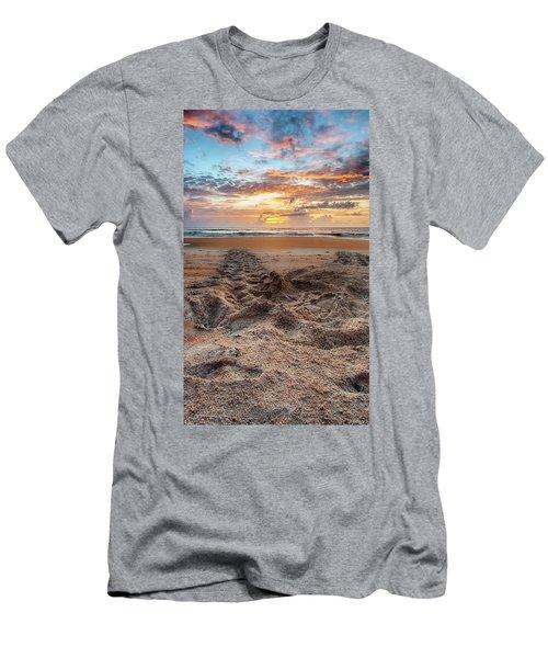 Sea Turtle Trails Men's T-Shirt (Athletic Fit)