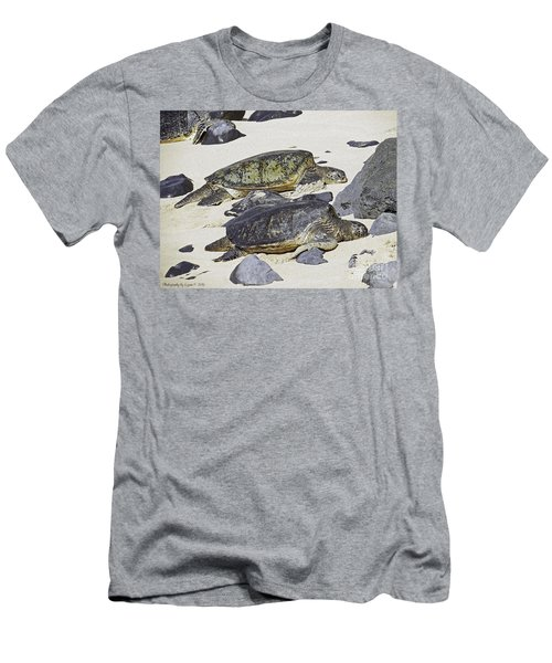 Sea Turtles Men's T-Shirt (Slim Fit) by Gena Weiser