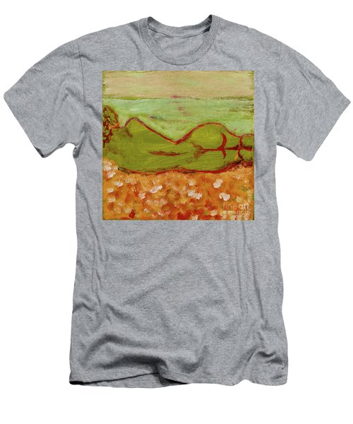 Men's T-Shirt (Slim Fit) featuring the painting Seagirlscape by Paul McKey