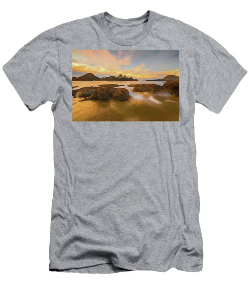 Seal Rock Sunset Men's T-Shirt (Athletic Fit)
