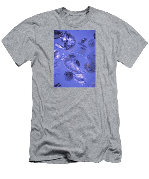Men's T-Shirt (Athletic Fit) featuring the mixed media Seashell Medley In Violet by Lynda Lehmann