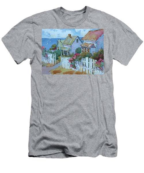 Seaside Cottages Men's T-Shirt (Athletic Fit)