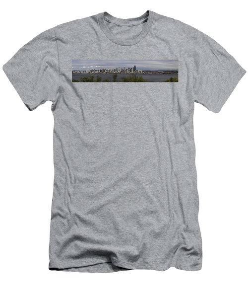 Seattle At Its Best Men's T-Shirt (Slim Fit) by James Heckt
