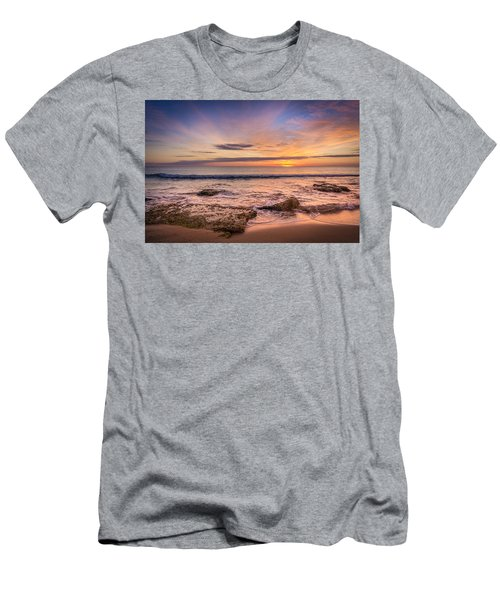Seaview Sunrise. Men's T-Shirt (Athletic Fit)