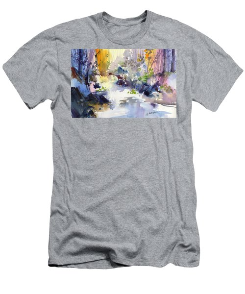 Secret Falls Men's T-Shirt (Slim Fit) by P Anthony Visco