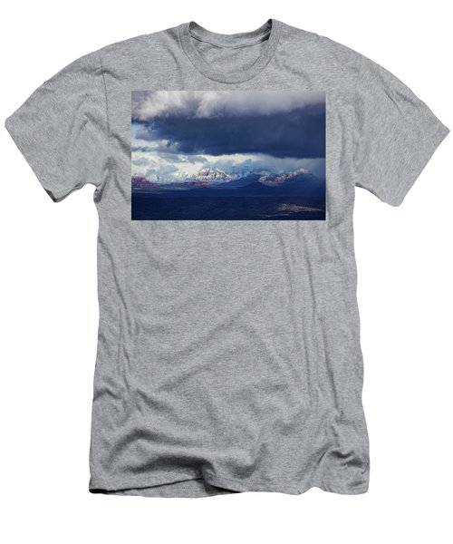 Men's T-Shirt (Slim Fit) featuring the photograph Sedona Area Third Winter Storm by Ron Chilston