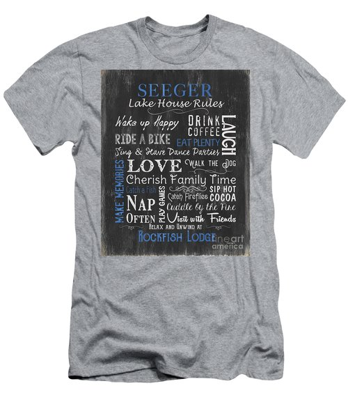 Seeger Lake House Rules Men's T-Shirt (Athletic Fit)