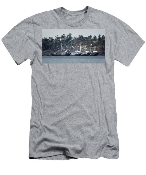 Men's T-Shirt (Slim Fit) featuring the photograph Seiners In Nw Bay by Randy Hall