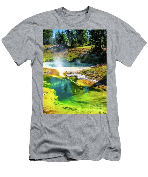 Seismograph Pool In Yellowstone Men's T-Shirt (Athletic Fit)