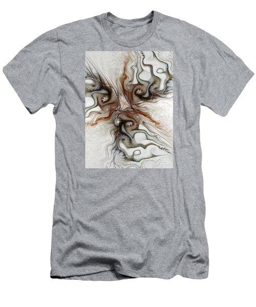 Men's T-Shirt (Slim Fit) featuring the digital art Sensuality by Karin Kuhlmann