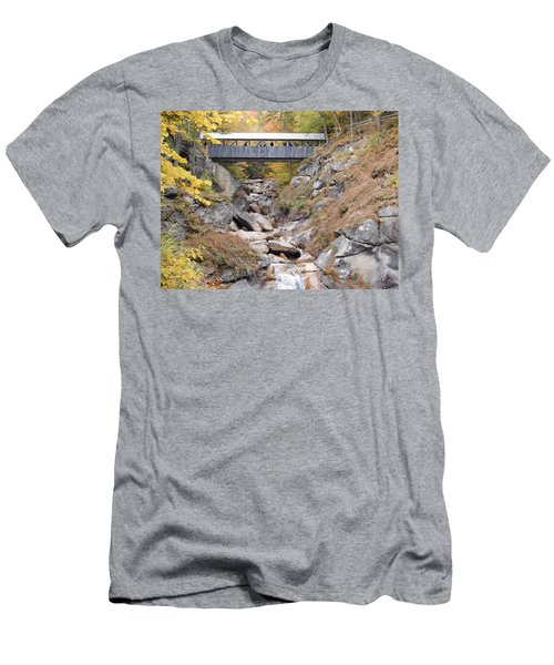 Sentinel Pine Covered Bridge Men's T-Shirt (Slim Fit) by Catherine Gagne