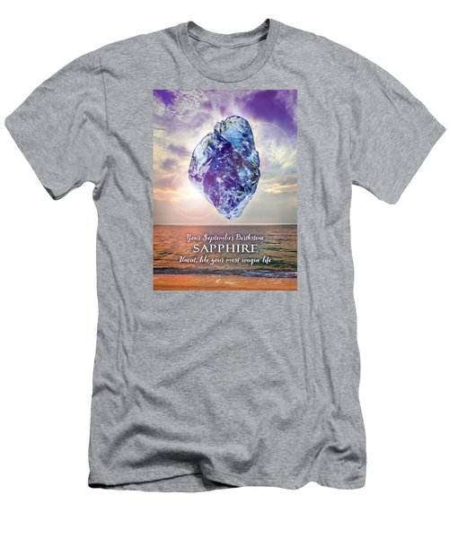 September Birthstone Sapphire Men's T-Shirt (Athletic Fit)