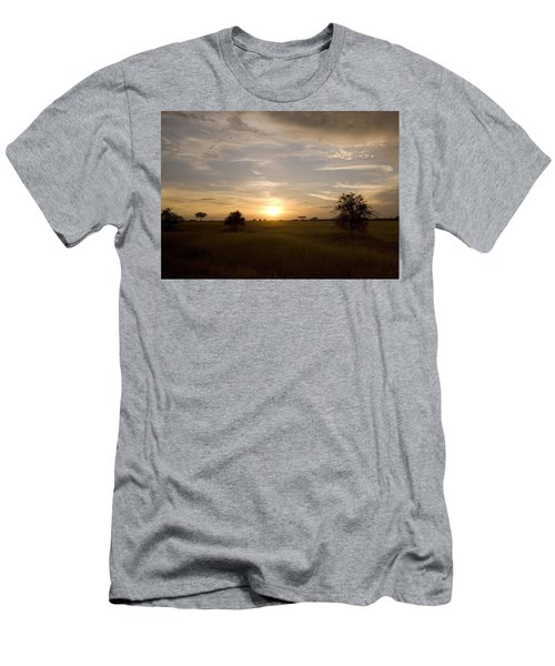 Serengeti Sunset Men's T-Shirt (Athletic Fit)