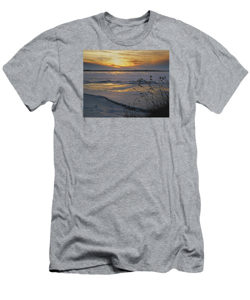 Men's T-Shirt (Slim Fit) featuring the photograph Setting Sun by Judy Johnson