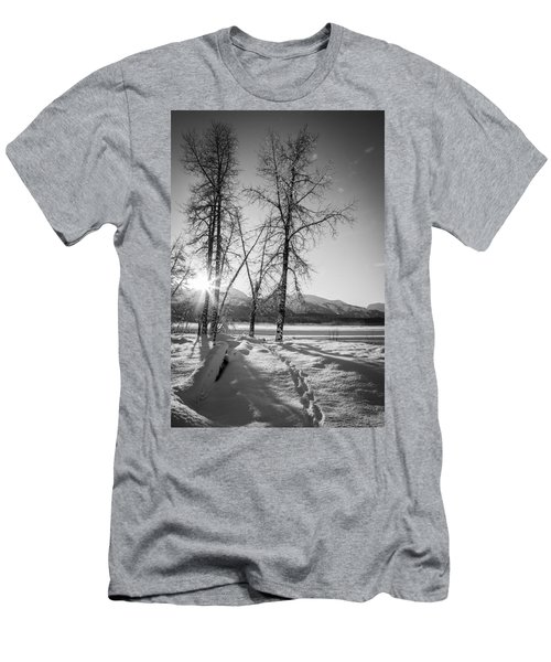 Men's T-Shirt (Slim Fit) featuring the photograph Setting Winter Sun by Michele Cornelius