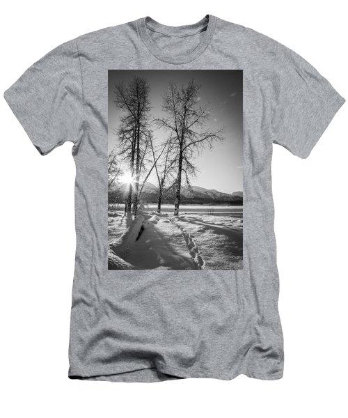 Setting Winter Sun Men's T-Shirt (Slim Fit) by Michele Cornelius