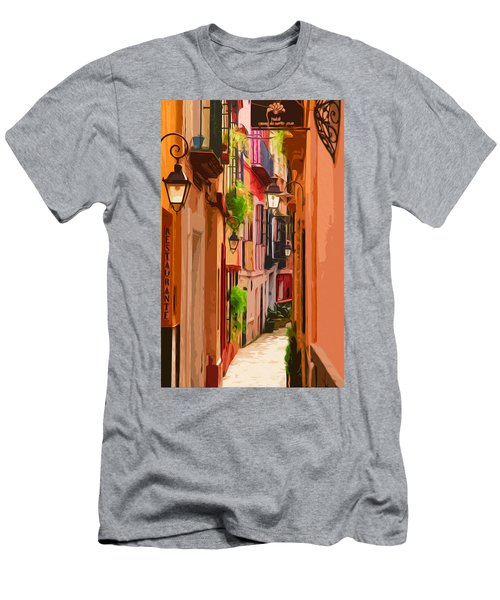 Seville, Colorful Spain Men's T-Shirt (Athletic Fit)